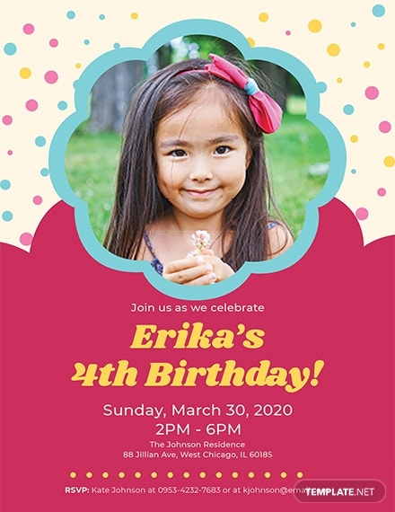 kid s birthday invitation template 1x