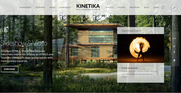 kinetika fully featured wordpress theme