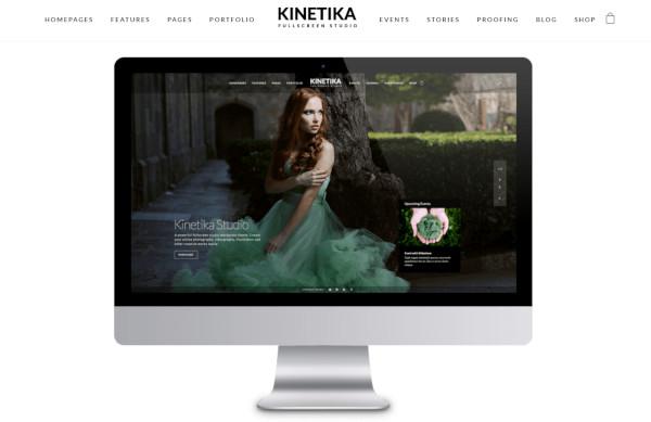 kinetika photowall and carousel wordpress theme