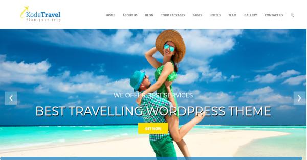 kodetravel tourism wordpress theme