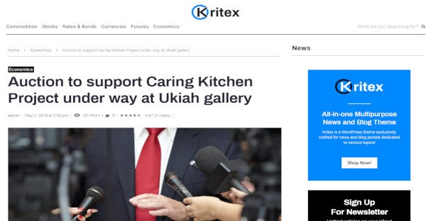 kritex elementory wordpress theme