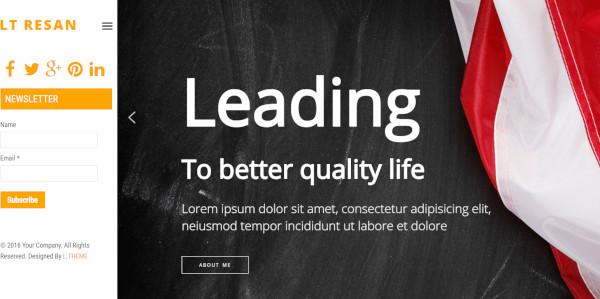 lt resan – responsive wordpress theme