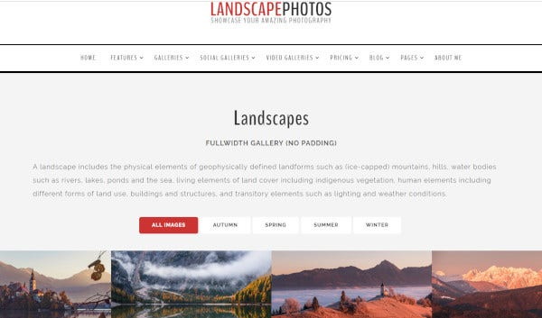 landscape seo optimized wordpress theme