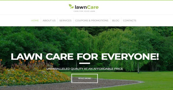 lawn care drag and drops wordpress theme