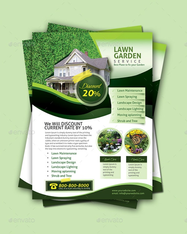 lawn garden services flyer design