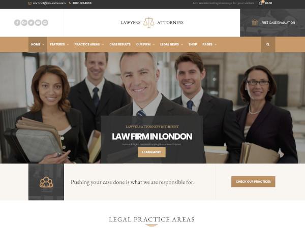 lawyer attorneys law firm office wordpress theme