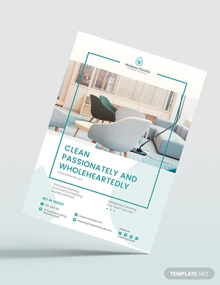layered cleaning services flyer format
