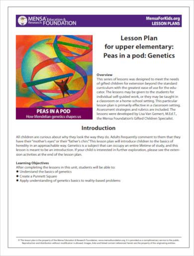 lesson plan for upper elementary