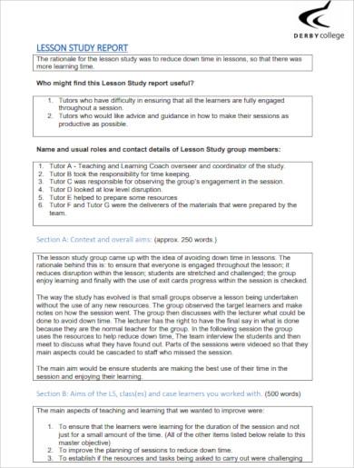 lesson study report1