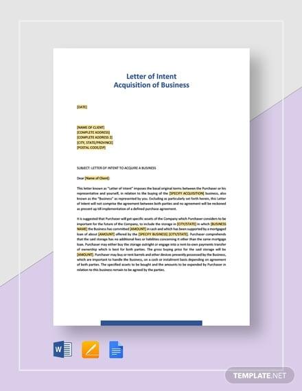 14 Business Letter Of Intent Templates Pdf Doc Free Premium Templates