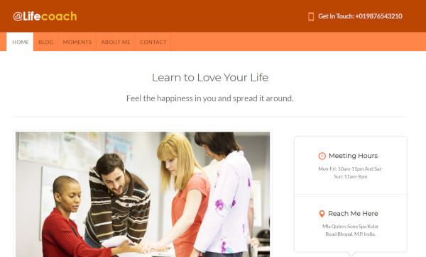 lifecoach – responsive wordpress theme