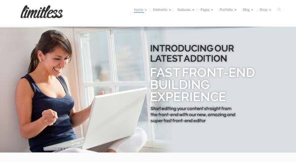limitless 6 home page wordpress theme