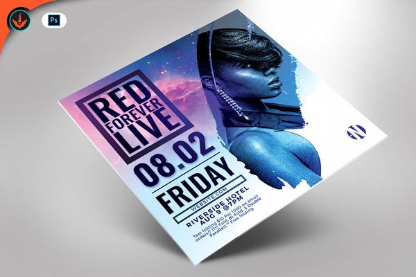 live-concert-square-flyer-template