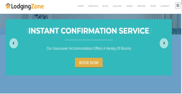 lodging zone attractive wordpress theme