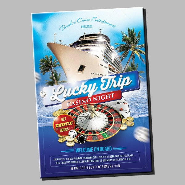 lucky casino cruise flyer example