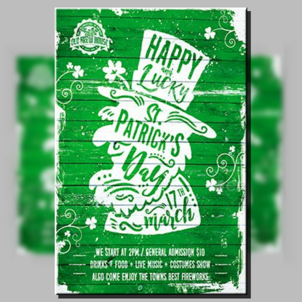 Lucky St Patrick's Day Poster Sample