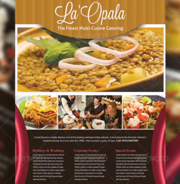 luxury restaurant catering flyer sample