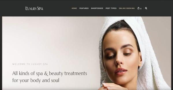 luxury spa responsive spa and wellness wordpress theme