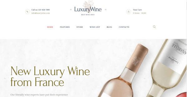 Luxury Wine Trendy WordPress Theme