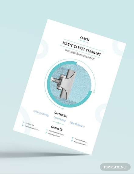 magic carpet cleaners flyer design