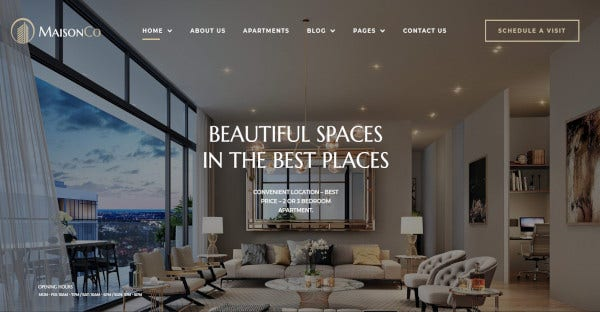 maisonco stunning wordpress theme