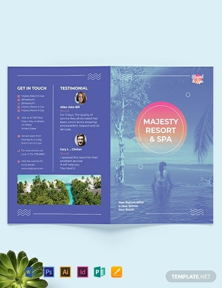 majestic spa resort brochure example