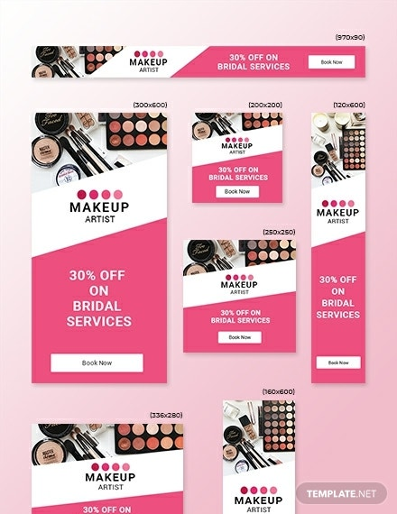 makeup artist web ads template