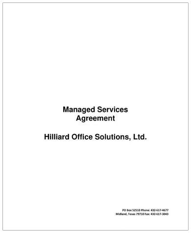 managed services agreement contract template1