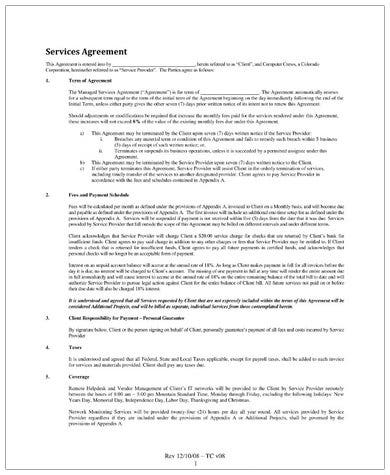 managed services contract template example1