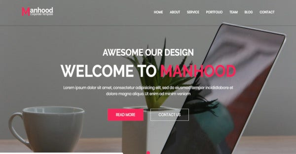 Manhood - Grated Google Fonts WordPress Theme