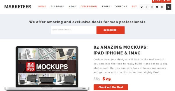 marketeer css3 integrated wordpress theme1
