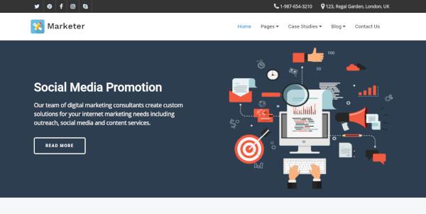 marketer tech wordpress theme