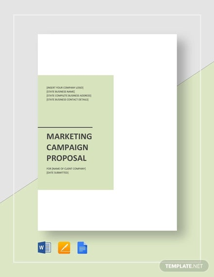 marketing campaign proposal template1