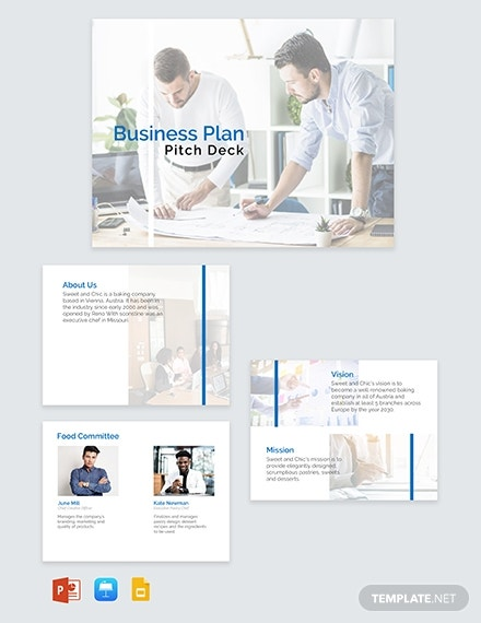 marketing pitch deck powerpoint layout