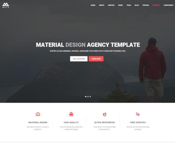 material design agency theme