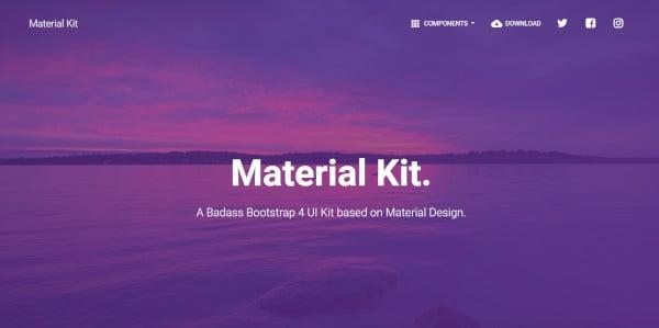 material-kit-bootstrap-wordpress-theme