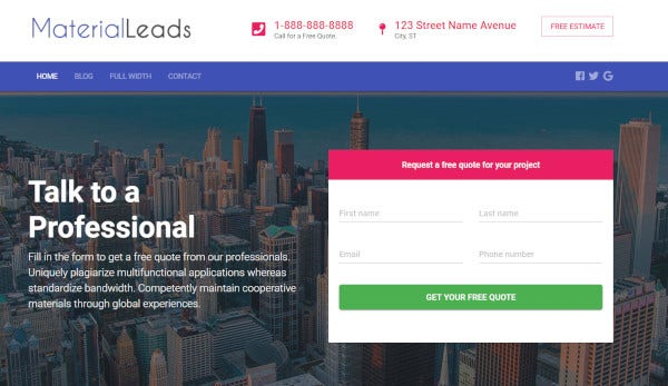 material-leads-bootstrap-wordpress-theme