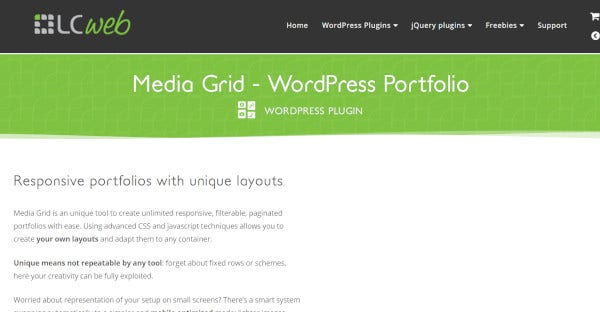 media grid lightbox effect wordpress theme