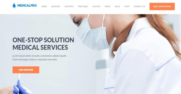 medicalpro vast layout wordpress theme