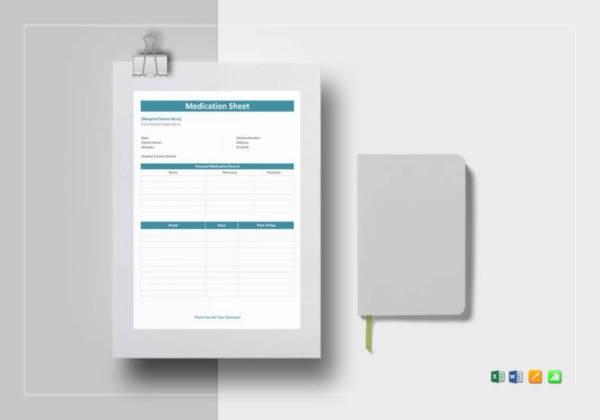Medication Prescription Sheet Template