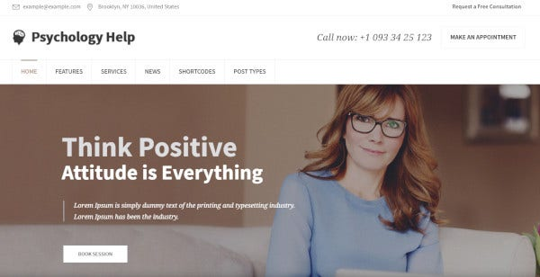 mental health a wordpress template for psychotherapy