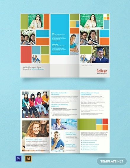 metro tiles college brochure template