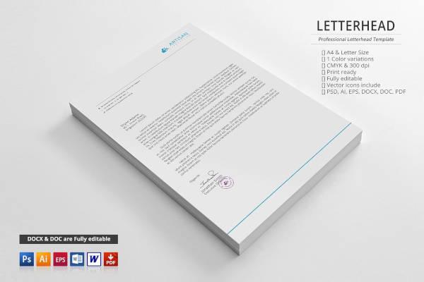 minimal corporate letterhead template
