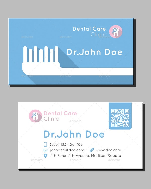 Minimal Dentist Business Card Sample