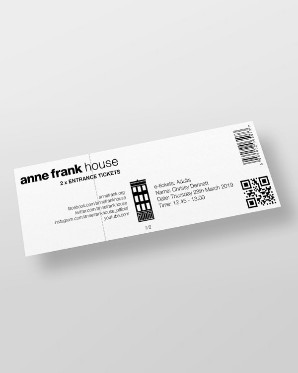 Minimal Home Admission Ticket Example