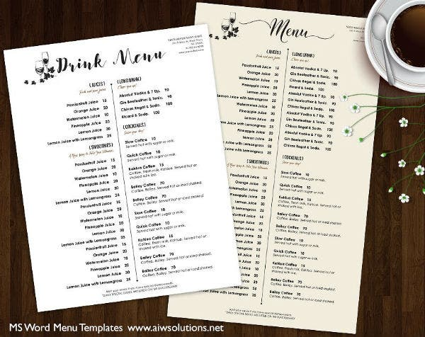 minimalist-drink-menu-template