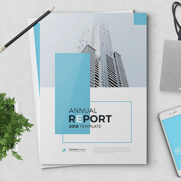 modern business annual report brochure