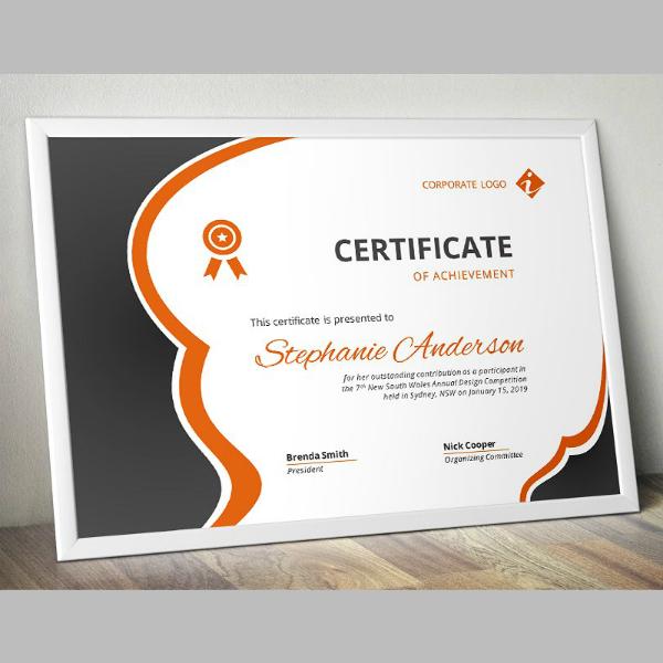 Modern Business Word Certificate Sample