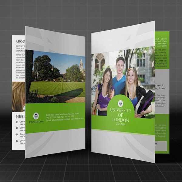 Modern College Bi-Fold Brochure Design
