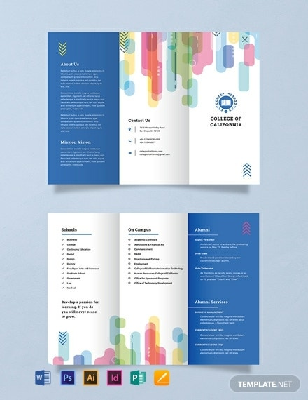 modern colorful college brochure layout